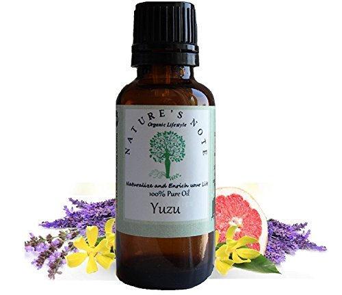 All Natural Nature's Note Organics Fragrance Oils (Yuzu, 1 oz.)