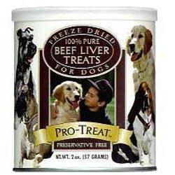 Gimborn Pro-Treat Freeze Dried Beef Liver Dog Treats (2 Oz.)