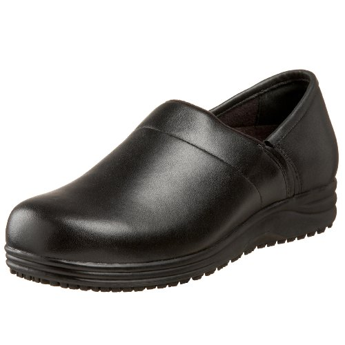 Standing Comfort Women's Breeze Plain Toe Slip-On,Black,8.5 M  US