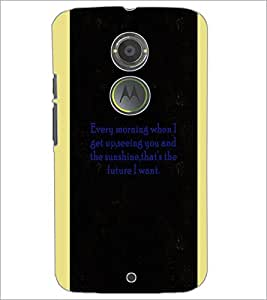 PrintDhaba Quote D-4966 Back Case Cover for MOTOROLA MOTO X2 (Multi-Coloured)