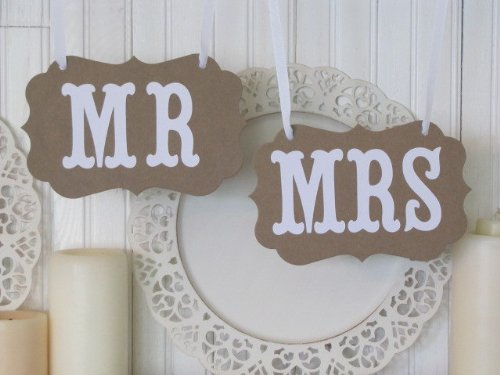 Mr And Mrs Wedding Signs For Wedding Photo Booth Props Photobooth Thank You Bunting Banner Wedding Decoration