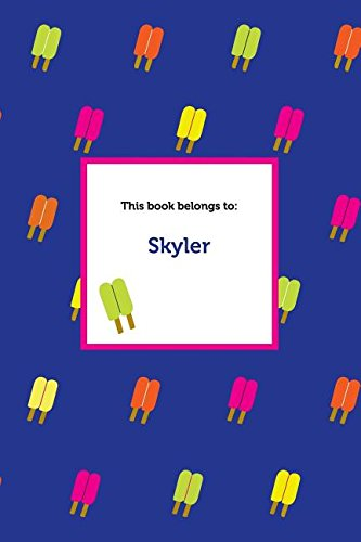 Etchbooks Skyler, Popsicle, Wide Rule