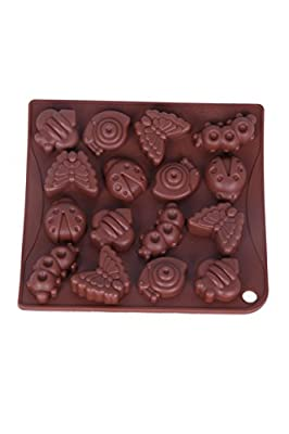 Candy Mold - Silicone Chocolate Mold -Juvale -Letters and Numbers, Bugs, Cats, Elephants, Insects, Animals, Lady Bugs, Butterflies Shapes 4 Piece Set