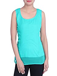 Iande turquoise color Georgette Top