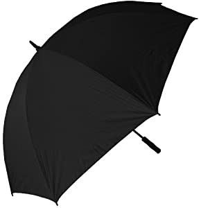 RainStoppers 68-Inch Oversize Windproof Golf Umbrella (Solid Black)