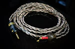 Whiplash Audio TWag V3 and TWcu V3 Hybrid Shure MMCXコネクタ用 交換用アップグレード・ケーブル SE846, SE535, SE425, SE315, SE215, UE900, UE900s対応