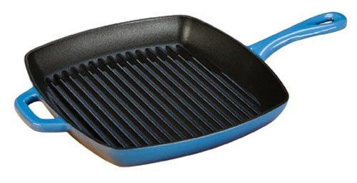 Lodge ECSGP33 10-Inch Color Square Grill Pan (Caribbean Blue)