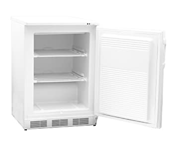 "Nor-Lake Scientific LF041WWW/0M Painted White Undercounter Manual Defrost Freezer, 115V, 60Hz, 3.5 cu ft Capacity, 23-5/8"" W x 33-1/2"" H x 24-7/8"" D, -10 to -20 Degree C"