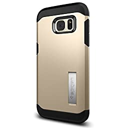 Spigen Tough Armor Galaxy S7 Edge Case with Extreme Heavy Duty Protection and Air Cushion Technology for Samsung Galaxy S7 Edge 2016 - Champagne Gold