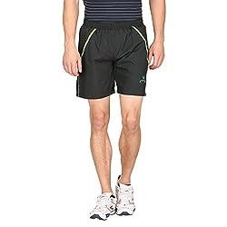 Attro Men's Polyester Shorts (ATRMSH01007GXL_Black_X-Large)