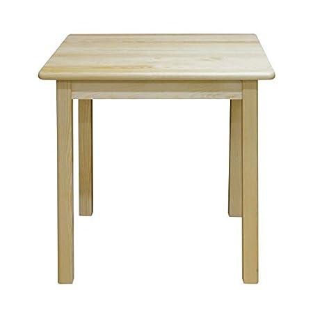 Tisch 80x80 cm Kiefer massiv, Farbe: Natur
