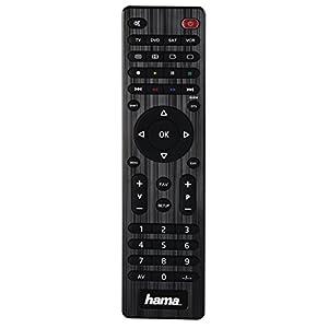 Hama Universal Fernbedienung 4-in-1 (geeignet für bis zu vier Geräte und über 1.000 Marken) schwarz