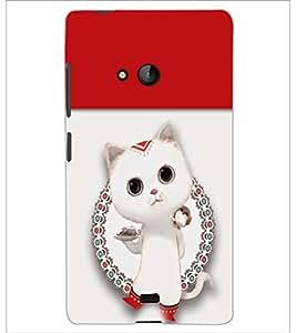 PrintDhaba Kitty D-4708 Back Case Cover for MICROSOFT LUMIA 540 (Multi-Coloured)