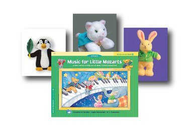 Music For Little Mozarts Plush Pack 2 Plus Book - Includes Pachelbel Penguin, Schumann Cat, J.S. Bunny And Level 2 Lesson Book front-823611