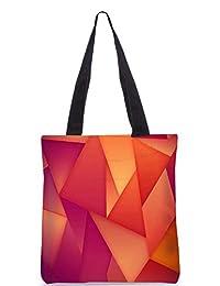 Snoogg Abstract Dark Pattern Design Digitally Printed Utility Tote Bag Handbag Made Of Poly Canvas