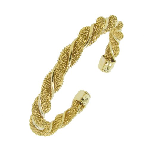 Rope Design Cuff in Gold Tone