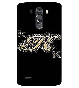 PrintVisa K Letter Bling Design 3D Hard Polycarbonate Designer Back Case Cover for LG G3 MINI
