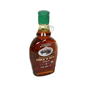 Shady Maple Farms Organic Dark Thick Maple Syrup, 8 Ounce -- 12 per case.