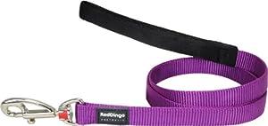Red Dingo Plain Dog Lead, S, 12 mm x 1.2 m, Classic Purple