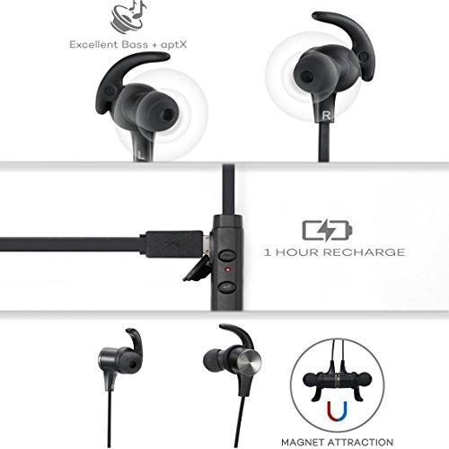 Cuffie Bluetooth Magnetiche, TaoTronics Auricolari Sportivi Wireless Stereo