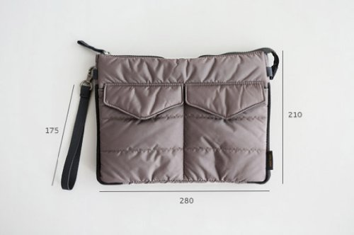 Brilliance Co Storage Bag Organizer Pouch Insert For Handbag, Tablet Pc Bag - Grey