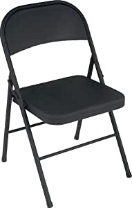 Amazon Cosco All Steel 4 Pack Folding Chair Black
