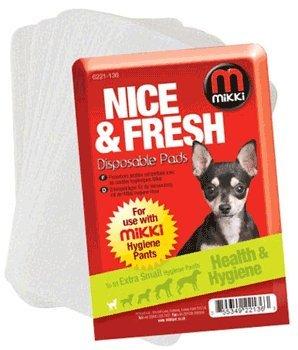 Artikelbild: Mikki Hygiene-Pads für Hunde-Packs von 10 (Größe: Extra Small), einen Artikel