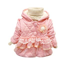 Kubeer Baby 0-4T Kids Thick Party Coat Child Girl Infant Fashion Outerwear Tops
