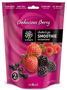 Sequel Naturals Vega Shake and Go Smoothie Bodacious Berry -- 10.6 oz