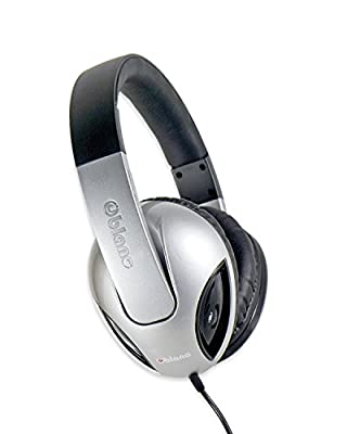 Syba NC-1 Cobra 2.1 Dual Driver Headphones with Built-In Amplifier and In-line Microphone - Retail Packaging - Silver