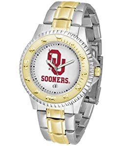 Oklahoma Sooners Competitor Two Tone Watch by SunTime