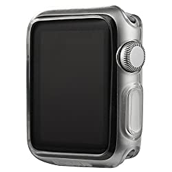 Usams Primary Series TPU Case Soft Clear Cover for Apple Watch 42mm - White