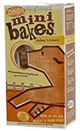 Mini Bakes, All-Natural Miniature Dog Biscuits, Turkey 'n Taterz, 325+ Biscuits, 16 oz (454 g) by Zuke's