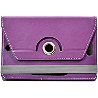 "Hello Zone Exclusive 360° Rotating 7"" Inch Flip Case Cover Book Cover For Asus NEXUS7 ASUS-1B32 Tablet -Purple"