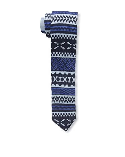 Ivy Prepster Men's Meeting Fair Isle Knit Tie, Indigo