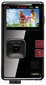 Creative Labs Vado HD 8 GB Pocket Video Camcorder, 2nd Generation (Black Gloss with Maroon Accents)