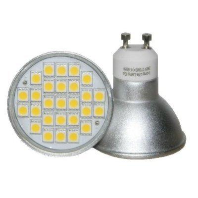 Long Life Lamp GU10 5 Watt LED Super Bright with Beautiful Warm White 50 Watt Replacement for Halogen Bulb, Pack of 10