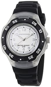 Timex Sport Marathon Midsize Quartz Watch with Silver Dial Analogue Display and Black Resin Strap T5K5024E