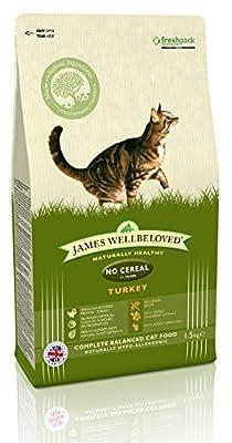 James Wellbeloved Turkey and Vegetables Adult No Cereals Cat Food 1.5 Kg