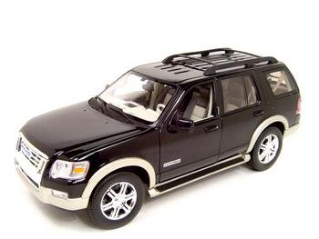 Buy 2006 Ford Explorer Diecast Model Black 1:18 Eddie Bauer Die Cast Car