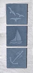 Greenkey Small Coastal Slate Wall Art by Greenkey Garden and Home Ltd