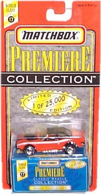 Matchbox - Premiere Collection - World Class Series 17 - Classic Muscle Collection - Dodge Challenger - Limited Edition (25,000) Replica - 1