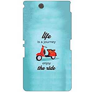 Printland Life Is A Journey Phone Cover For Sony Xperia Z Ultra C6802