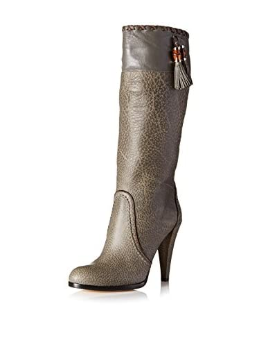 Gucci Women's Heel Boot with Tassel  [Light Gray]