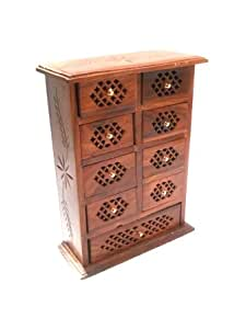 Buy Pindia Cabinet Mini Wooden Chest Coin Jew Collection Door Home Decor Jwellery Furniture