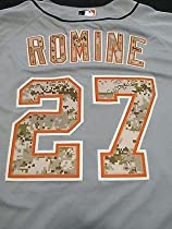 Andrew Romine Game Used 2014 Detroit Tigers Memorial Day Camo Jersey Mlb  Holo - MLB Game Used Jerseys 626fa8234