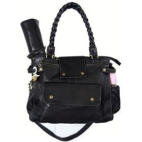 Not Rational Diaper Bags - Gretel Black Diesel Leather Diaper Bag