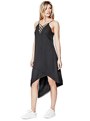 GUESS Womens Ellia Strappy Asymmetrical Dress