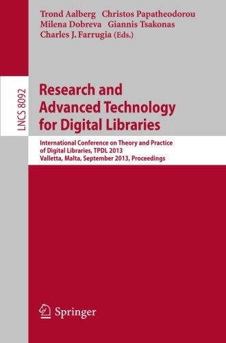 Research and Advanced Technology for Digital Libraries: International Conference on Theory and Practice of Digital Libra