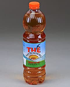 San Benedetto Peach Iced Tea - (Imported From Italy) BIG 1.5 Liter / 50.55 Oz Plastic Bottle (Pack of 6)